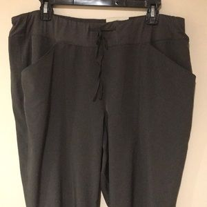 Charcoal Gray Stretchy Crop